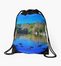 Duck Pond at Alligator Adventure Drawstring Bag