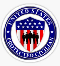 United States Protected Civilian Sticker