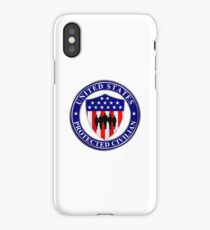 United States Protected Civilian iPhone Case/Skin