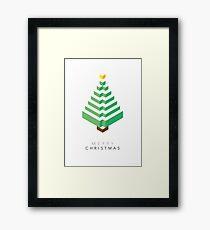 Minimalistic Christmas Tree (Card) Framed Print
