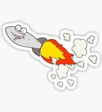 cartoon missile Sticker