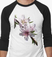 Peach Blossoms Men's Baseball ¾ T-Shirt