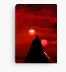 Star Wars Darth Vader Tatooine Sunset  Canvas Print