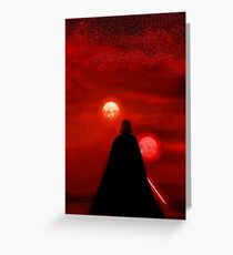 Star Wars Darth Vader Tatooine Sunset  Greeting Card