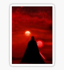 Star Wars Darth Vader Tatooine Sunset  Sticker