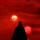 Star Wars Darth Vader Tatooine Sunset  by PoPitOnTheWall