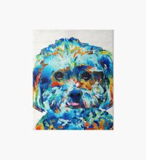 Colorful Dog Art - Lhasa Love - By Sharon Cummings Art Board