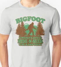 Bigfoot Hide N Seek Champion (vintage distressed) Unisex T-Shirt