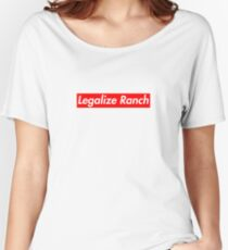 Legalize Ranch - Red Women's Relaxed Fit T-Shirt