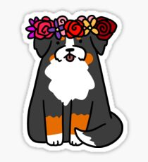Flower Crown Bernie Sticker