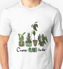 Crazy plant lady Unisex T-Shirt