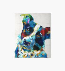Colorful Dog Art - Irresistible - By Sharon Cummings Art Board