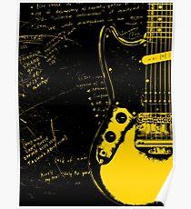 Mustang Guitar - Kurt Cobain Poster