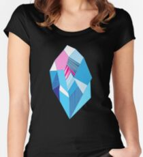 Bright pattern crystals Women's Fitted Scoop T-Shirt