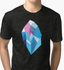 Camiseta de tejido mixto Cristales de patrón brillante