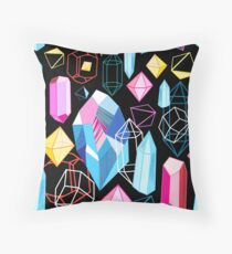 Bright pattern crystals Throw Pillow