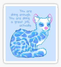 """""""You Are Doing Enough"""" Water Linsang Sticker"""