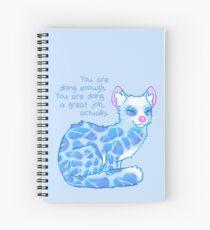 """Cuaderno de espiral """"Estás haciendo lo suficiente"""" Water Linsang"""