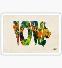 Iowa Typographic Watercolor Map Sticker