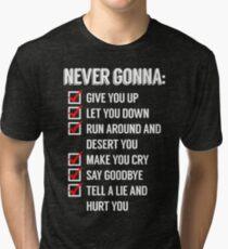 Rickrolled Tri-blend T-Shirt