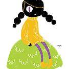 100 Days. Lady sitting on a hillock. by MarcConaco