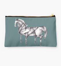 Origami Horse Teal Studio Pouch