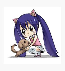 Chibi Wendy of Fairy tail Photographic Print