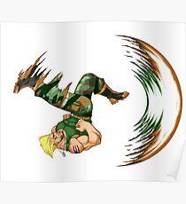 Guile Flash Kick Poster