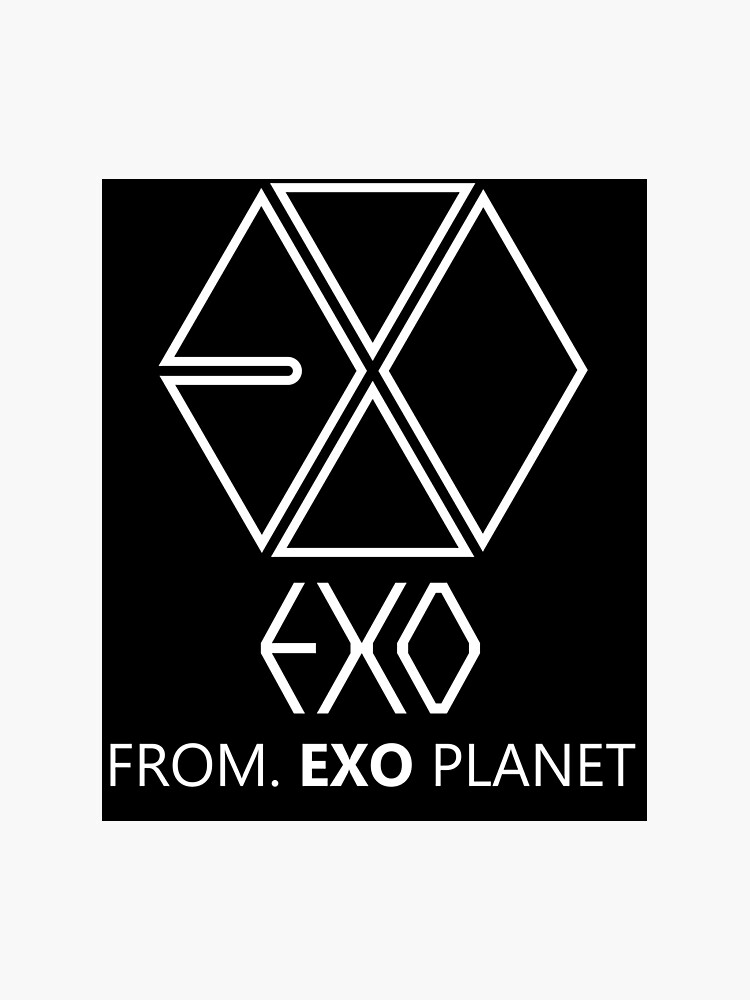 EXO - EXO FROM EXO PLANET - White Outline | Photographic Print