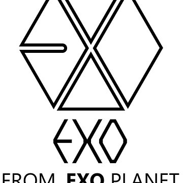 EXO - EXO FROM.EXO PLANET - Black Outline by poppy-shop