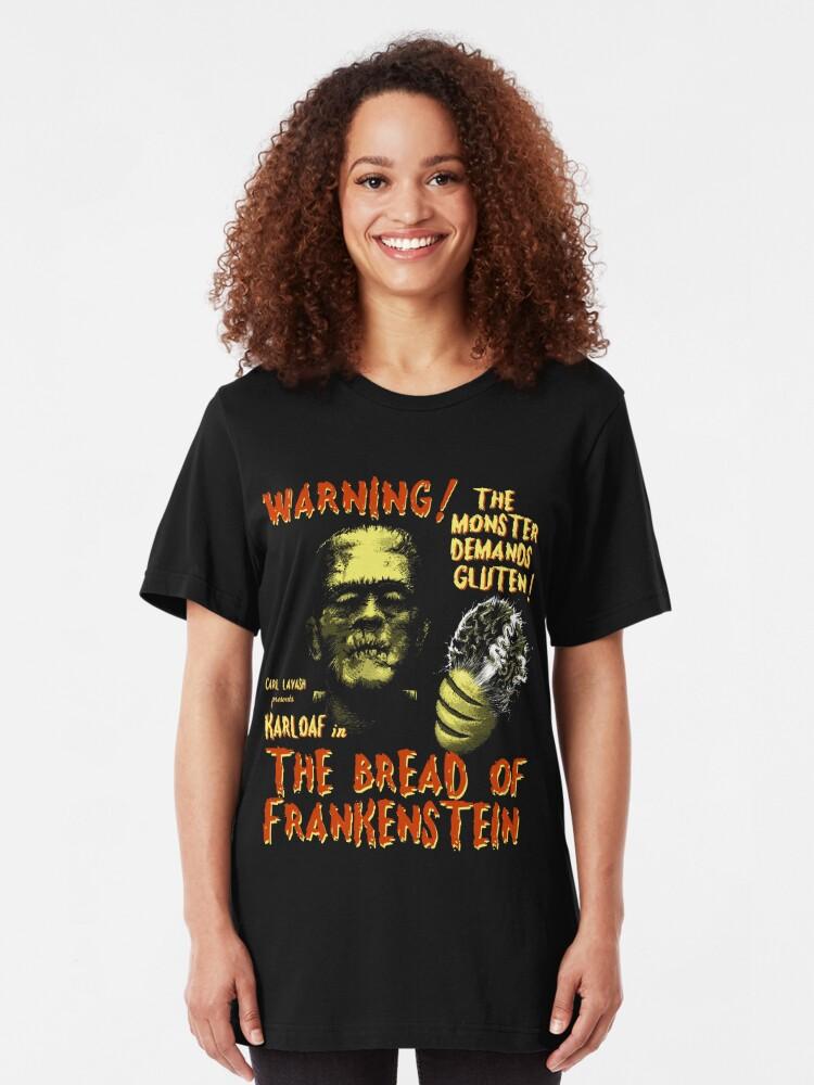 Alternate view of The Bread of Frankenstein Slim Fit T-Shirt