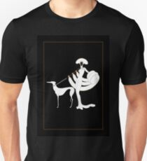 """Art Deco Design by Erte """"Ebony and White"""" Unisex T-Shirt"""
