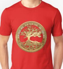 Celtic Tree of Life, Yggdrasil  [Gold] T-Shirt