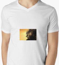 Himmelslandschaft T-Shirt mit V-Ausschnitt
