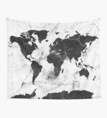 world map marble Wall Tapestry
