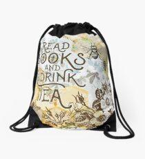 Bienen Tee und Bücher Rucksackbeutel