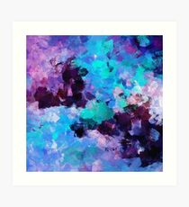 Purple Abstract Art Art Print