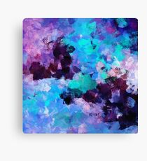 Purple Abstract Art Canvas Print