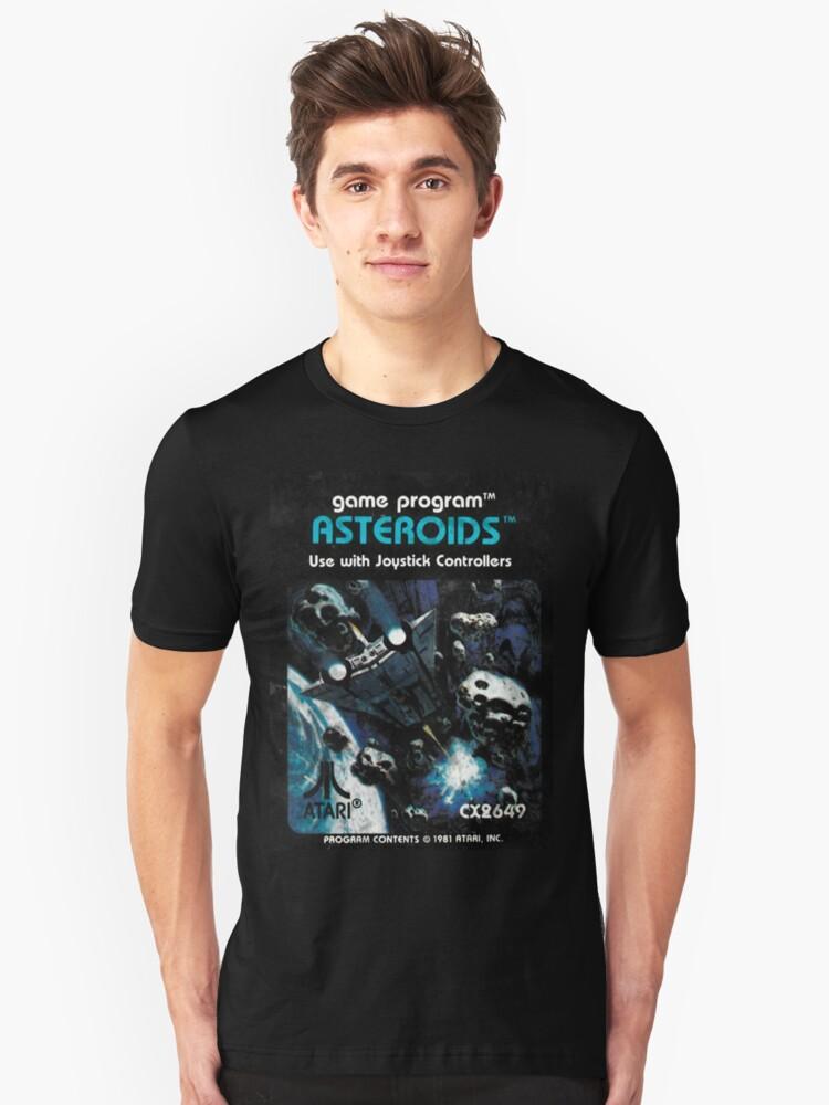 Asteroids Atari Box Art T-shirt