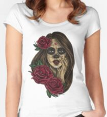 Chica Morte ~ Colour Women's Fitted Scoop T-Shirt