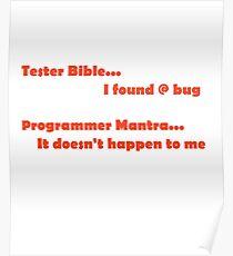 Tester versus Programmer Poster