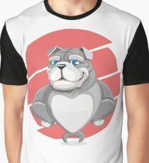 Cartoon Dog Graphic T-Shirt