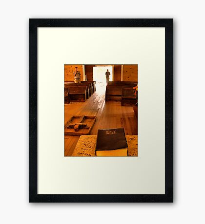 """""""Cades Cove Missionary Baptist Church: Interior Design""""... prints and products Framed Print"""