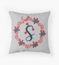 Scandinavian Monogram S Throw Pillow