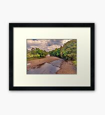 River Swale in Autumn Framed Print