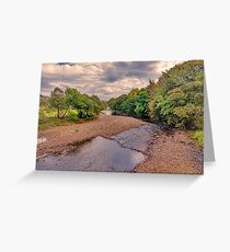 River Swale in Autumn Greeting Card