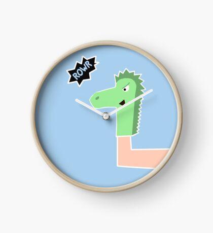 Dragon Sock Puppet... Rowr! Clock