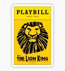 The Lion King Playbill Sticker