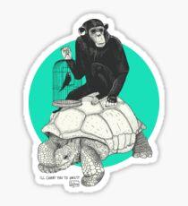 Ape and Tortoise Sticker