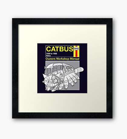 Catbus Manual Framed Print